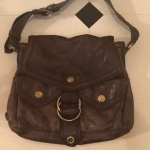 Marc Jacobs Brown Leather Embossed Bag